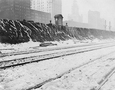 2010.030.PC03.23A--lee hastman collection 8x10 print--ICRR--Co Photo view of construction at Congress Street yard--Chicago IL--no date