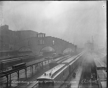 2010.030.PC03.07--lee hastman collection 8x10 print--ICRR--Co Photo view of Randolph Street station--Chicago IL--1893 0422