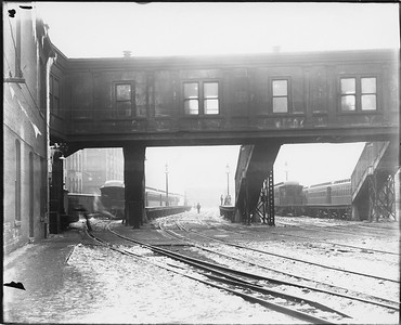 2010.030.PC03.10--lee hastman collection 8x10 print--ICRR--Co Photo view of Randolph Street station--Chicago IL--no date