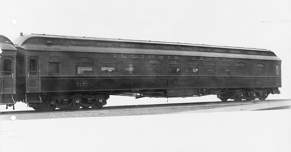 2010.030.PC22.21--lee hastman collection 8x10 print--ICRR--Co Photo view of wooden parlor car 717--builders photo--no date