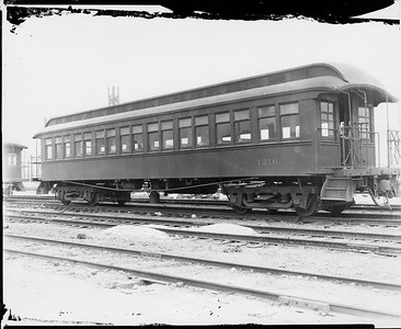 2010.030.PC22.11--lee hastman collection 8x10 print--ICRR--Co Photo view of wooden commuter coach 1210--Chicago IL--no date