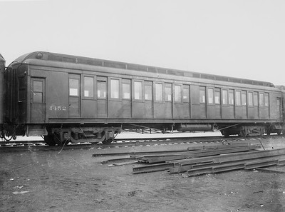 2010.030.PC22.14--lee hastman collection 8x10 print--ICRR--Co Photo view of wooden commuter coach 1452--Chicago IL--no date