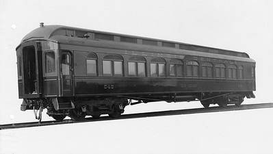 2010.030.PC22.20--lee hastman collection 8x10 print--ICRR--Co Photo view of wooden day coach 649--builders photo--no date