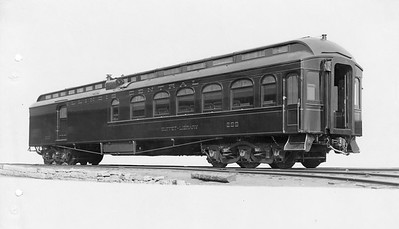 2010.030.PC22.19--lee hastman collection 8x10 print--ICRR--Co Photo view of buffet-library car 298--builders photo--no date
