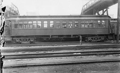 2010.030.PC22.08--lee hastman collection 8x10 print--ICRR--Co Photo view of wooden commuter coach 1062--Chicago IL--no date