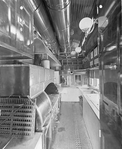 2010.030.PC22.27--lee hastman collection 8x10 print--ICRR--Co Photo view of wooden cafe-diner kitchen interior--builders photo--no date