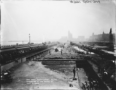 2010.030.PC01.15--lee hastman collection 8x10 print--ICRR--Company Photograph Lake Front Improvements Series--Chicago IL--1896 0509