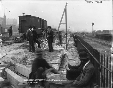 2010.030.PC01.08--lee hastman collection 8x10 print--ICRR--Company Photograph Lake Front Improvements Series--Chicago IL--1896 0428