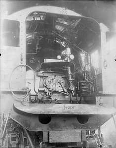 2010.030.PC20.015--lee hastman collection 8x10 print--ICRR--Co Photo view of steam locomotive 1745 backhead detail--location unknown--no date