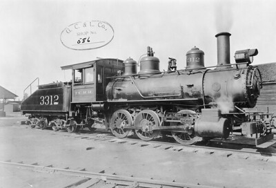 2010.030.PC20.044--lee hastman collection 8x10 print--ICRR--Co Photo view of steam locomotive 0-6-0 3312 (ex VS&P 314)--location unknown--no date