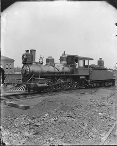 2010.030.PC20.041--lee hastman collection 8x10 print--ICRR--Co Photo view of steam locomotive 0-6-0 130--Chicago IL--1892 0000