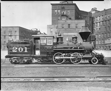 2010.030.PC20.026--lee hastman collection 8x10 print--ICRR--Co Photo view of steam locomotive 2-4-4T 201--Chicago IL--no date