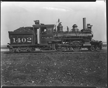 2010.030.PC20.031--lee hastman collection 8x10 print--ICRR--Co Photo view of steam locomotive 2-4-4T 1402--Chicago IL--no date