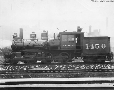 2010.030.PC20.037--lee hastman collection 8x10 print--ICRR--Co Photo view of steam locomotive 2-6-4T 1450--Chicago IL--1925 1019