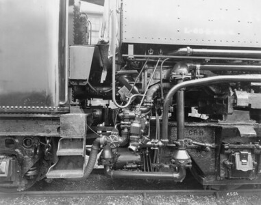 2010.030.PC20.021--lee hastman collection 8x10 print--ICRR--Co Photo view of steam locomotive 7000-7049 injector detail--location unknown--no date