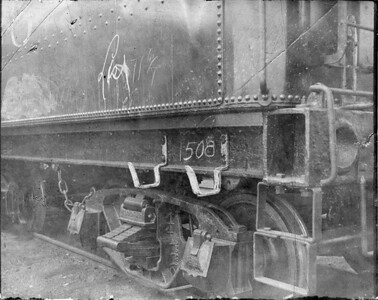 2010.030.PC20.010--lee hastman collection 6x7 print--ICRR--Co Photo view of steam locomotive 1508 tender detail--location unknown--no date