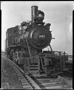 2010.030.PC20.036--lee hastman collection 8x10 print--ICRR--Co Photo view of steam locomotive 2-6-4T 1447--Chicago IL--1925 1019