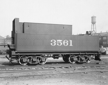 2010.030.PC20.018--lee hastman collection 8x10 print--ICRR--Co Photo view of steam locomotive 3561 tender--location unknown--no date