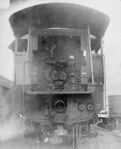 2010.030.PC20.006--lee hastman collection 8x10 print--ICRR--Co Photo view of steam locomotive backhead detail--location unknown--no date