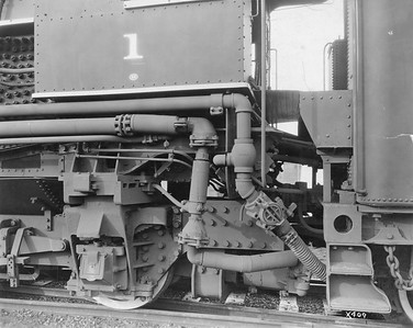2010.030.PC20.025--lee hastman collection 8x10 print--ICRR--Co Photo view of steam locomotive 4-6-4 1 under cab detail--location unknown--no date