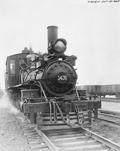 2010.030.PC20.035--lee hastman collection 8x10 print--ICRR--Co Photo view of steam locomotive 4-6-4T 1436--Chicago IL--1925 1019