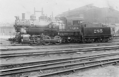 2010.030.PC20.043--lee hastman collection 8x10 print--ICRR--Co Photo view of steam locomotive 0-6-0 285--location unknown--no date