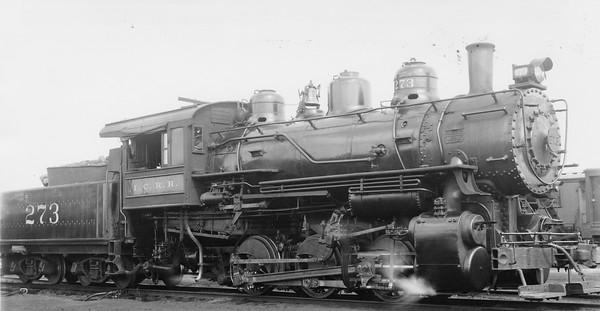 2010.030.PC20.042--lee hastman collection 8x10 print--ICRR--Co Photo view of steam locomotive 0-6-0 273--location unknown--no date