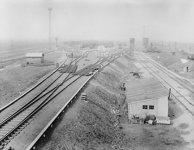 2010.030.PC23.03--lee hastman collection 8x10 print--ICRR--new GRS humpyard retarder system-class yard from tower--East St Louis IL--1926 0315