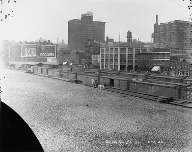 2010.030.PC24.07--lee hastman collection 8x10 print--C&WI AT&SF--Co Photo view of freight yard at Dearborn Station--Chicago IL--1922 0802