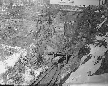 2010.030.PC17.06--lee hastman collection 8x10 print--ICRR--Co Photo view of south approach tunnel on Dawson cutoff--near Dawson Springs KY--1917 1218
