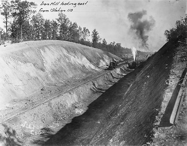 2010.030.PC17.06A--lee hastman collection 8x10 print--ICRR--Co Photo view of track construction on Dawson cutoff--near Dawson Springs KY--1914 1030