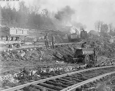 2010.030.PC17.03--lee hastman collection 8x10 print--ICRR--Co Photo view of Scottsburg grade reduction construction--near Dawson Springs KY--1917 1218