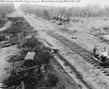 2010.030.PC17.02B--lee hastman collection 8x10 print--ICRR--Co Photo view of track construction on Dawson cutoff--near Dawson Springs KY--1924 0716