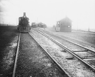 2010.030.PC16.02E--lee hastman collection 8x10 print--ICRR--Co Photo view of steam locomotive and yard scene--Clarksdale MS--no date