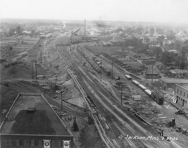 2010.030.PC16.16--lee hastman collection 8x10 print--ICRR--Co Photo view of track elevation construction--Jackson MS--1926 0722
