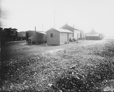 2010.030.PC16.02C--lee hastman collection 8x10 print--ICRR--Co Photo view of maintenance buildings--Clarksdale MS--no date