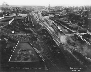 2010.030.PC16.15--lee hastman collection 8x10 print--ICRR--Co Photo view of track elevation construction--Jackson MS--1925 0914