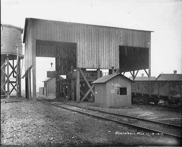 2010.030.PC16.02--lee hastman collection 8x10 print--ICRR--Co Photo view of coal hoist--Aberdeen MS--1917 1119