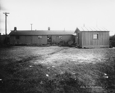 2010.030.PC16.02B--lee hastman collection 8x10 print--ICRR--Co Photo view of maintenance buildings--Clarksdale MS--no date