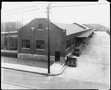 2010.030.PC19.03--lee hastman collection 8x10 print--ICRR--Co Photo view of freight depot--Indianapolis IN--1925 0721