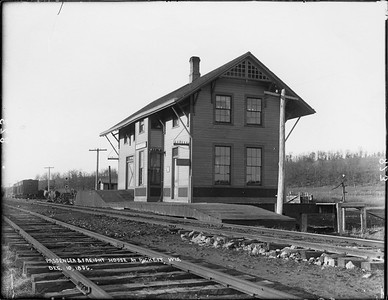 2010.030.PC19.07--lee hastman collection 8x10 print--ICRR--Co Photo view of depot--Pickett WI--1896 1210