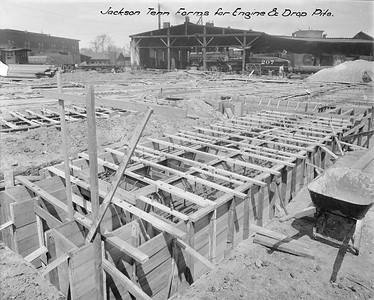 2010.030.PC15.04A--lee hastman collection 8x10 print--ICRR--Co Photo view of new roundhouse foundation construction--Jackson TN--1916 0412