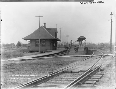 2010.030.PC09.18--lee hastman collection 8x10 print--ICRR--Co Photo view depot at South Shore looking northwest--Chicago IL--1896 0907