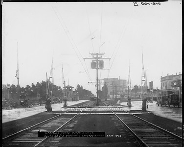 2010.030.PC09.15--lee hastman collection 8x10 print--ICRR--Co Photo view Yates Ave crossing near South Shore--Chicago IL--1926 0900