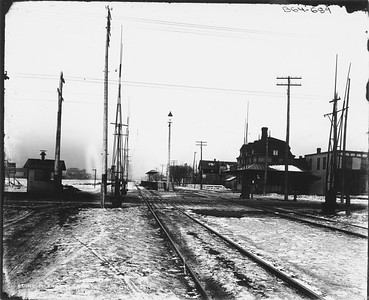 2010.030.PC09.05--lee hastman collection 8x10 print--ICRR--Co Photo view depot at Stony Island looking west--Chicago IL--1895 1213
