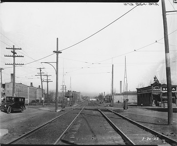 2010.030.PC09.24--lee hastman collection 8x10 print--ICRR--Co Photo view at 73rd Street looking north--Chicago IL--1925 0325