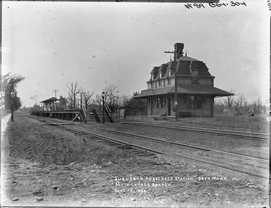 2010.030.PC09.09--lee hastman collection 8x10 print--ICRR--Co Photo view depot at Bryn Mawr looking west--Chicago IL--1896 0907