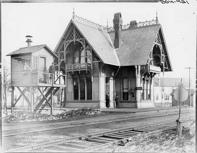 2010.030.PC09.25--lee hastman collection 8x10 print--ICRR--Co Photo view depot at Cheltenham--Chicago IL--1895 0225