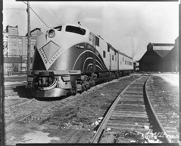 2010.030.PC29.06--lee hastman collection 8x10 print--ICRR--Co Photo view of EMD diesel locomotive 4000 for City of Miami passenger train--location unknown--1940 1125