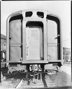 2010.030.PC29.08--lee hastman collection 8x10 print--ICRR--Co Photo view of passenger car end on City of Miami--location unknown--1940 1121